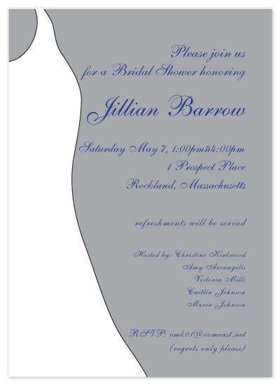 shower invitations - Sterling Silver Bridal Invitations by Christine Arrigo
