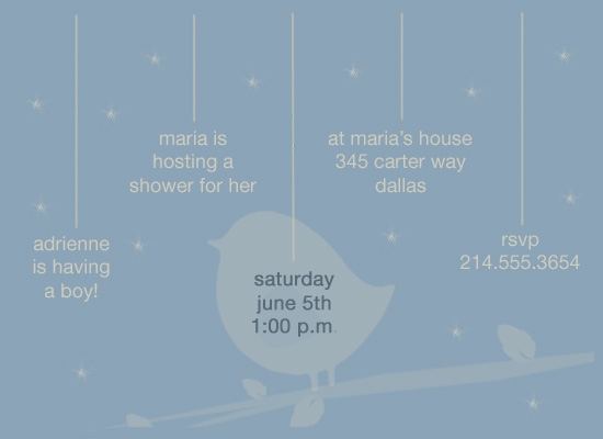 shower invitations - Blue Timeline by a visual concept