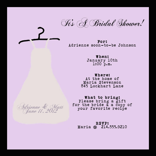 shower invitations - Fun in Pink Bridal by a visual concept