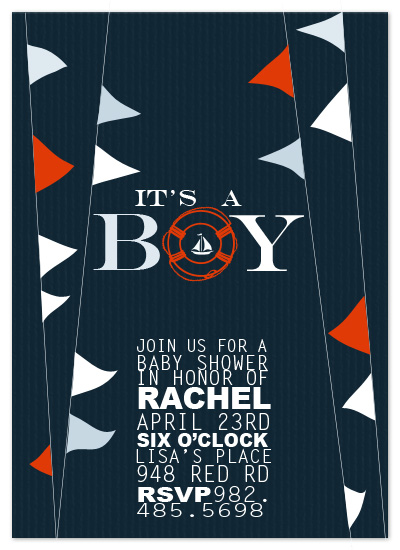 shower invitations - Nautical Baby by Jenn Reed