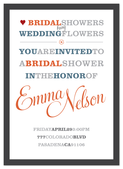 shower invitations - Bridal Showers, Wedding Flowers by David Sutoyo