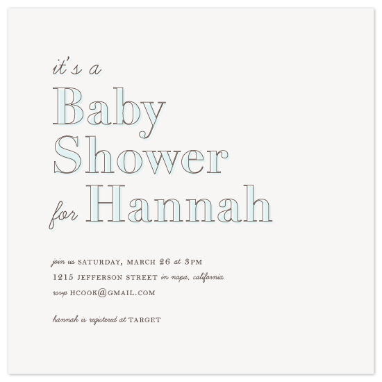 shower invitations - Lettering by AB
