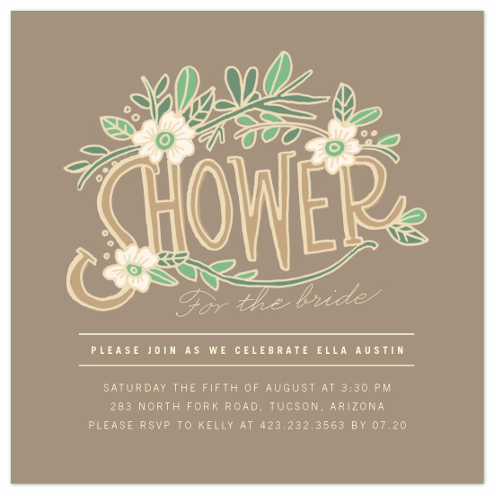 shower invitations - florella by Moglea