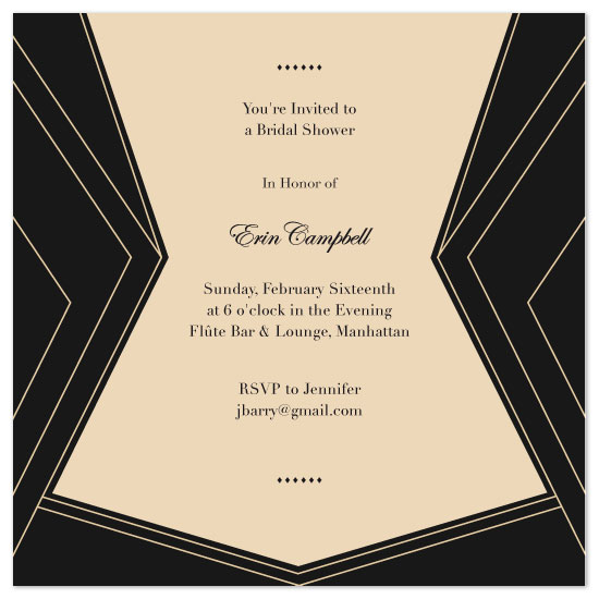 shower invitations - art deco cocktail soiree by Nightingale Press