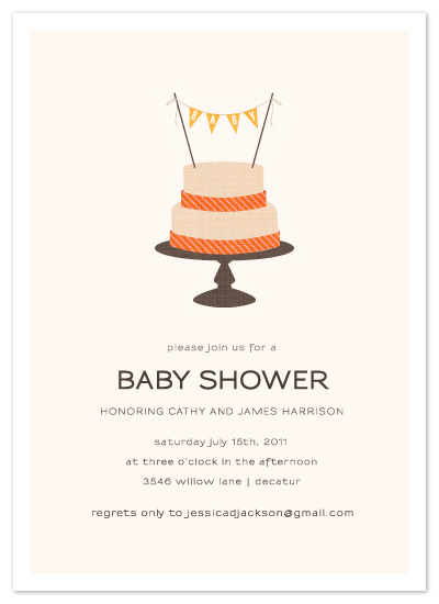 shower invitations - Baby Cake by Kristen Smith