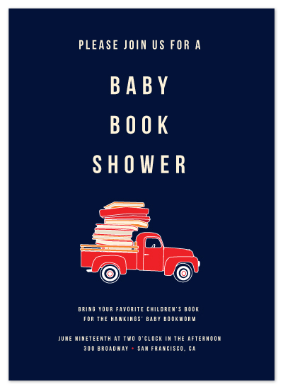 shower invitations - Baby Book Shower by Tyler Tea