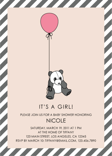 Shower Invitations Panda Baby Shower At Minted Com