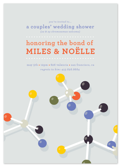 shower invitations - Molecular Wedding by Tyler Tea