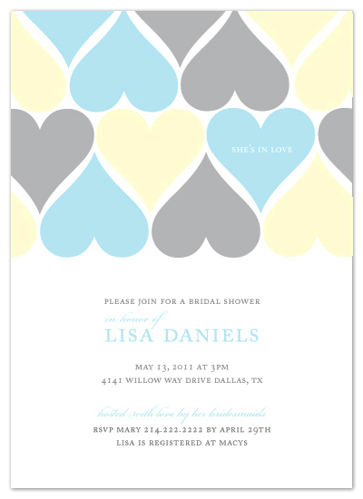 shower invitations - She's In Love by MelStudio