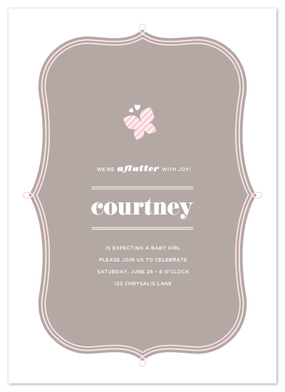 shower invitations - All Aflutter by kelli hall