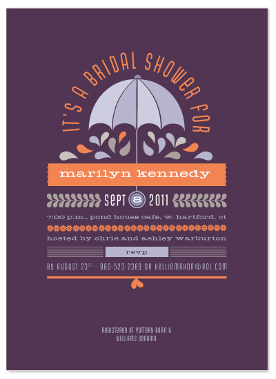 shower invitations - Under my Umbrella by Sandy Pons