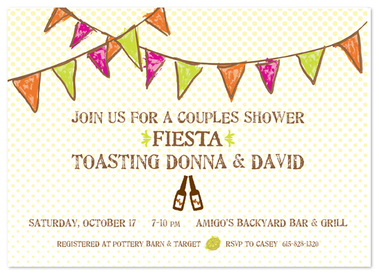 shower invitations Fiesta Couples Shower at Mintedcom