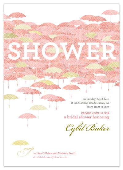 shower invitations - Parasol Sprinkles by J Sherman Studio