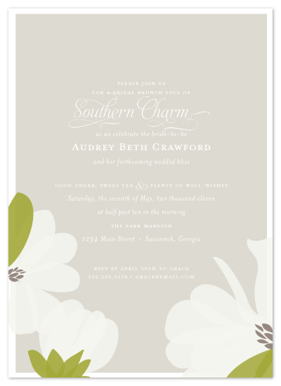 shower invitations - Southern Magnolia by Toast & Laurel