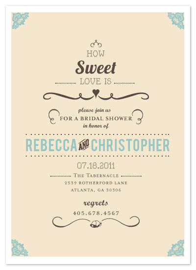 shower invitations How Sweet it Is at Mintedcom