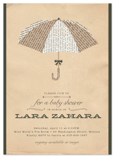 shower invitations - Umbrella of Advice by Carrie ONeal