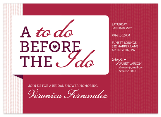 shower invitations - To Do / I Do by J Sherman Studio