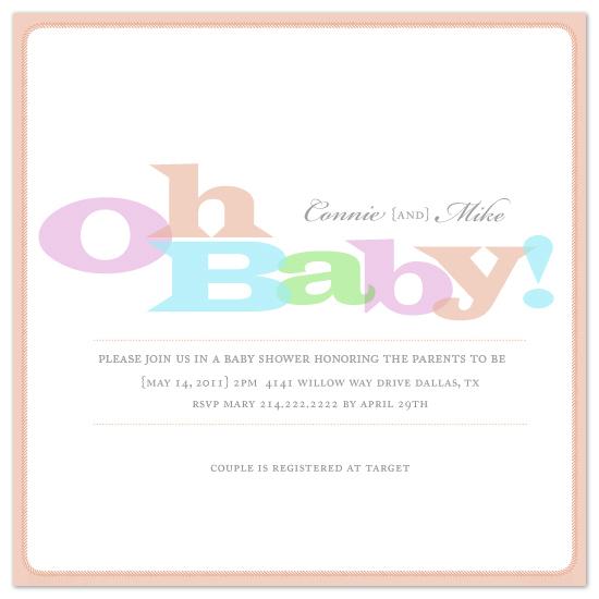 shower invitations - Baby Stitch by MelStudio
