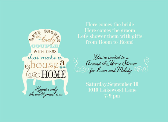 shower invitations - Making a House a Home by Courtney Warren Come Together Cards