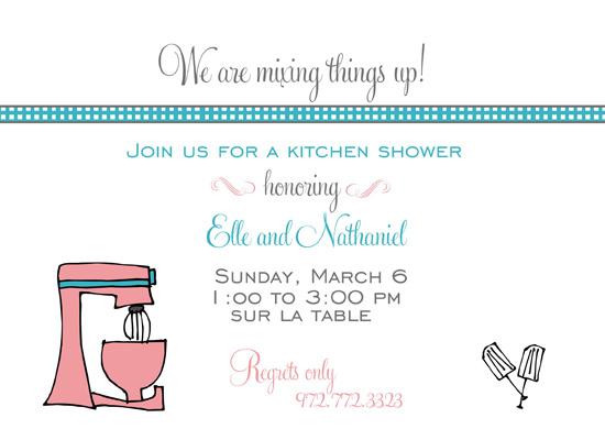shower invitations - Mixing things up by Courtney Warren Come Together Cards