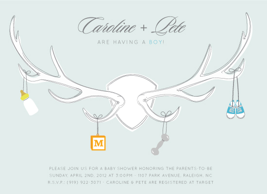 shower invitations - Antler  by Laurens