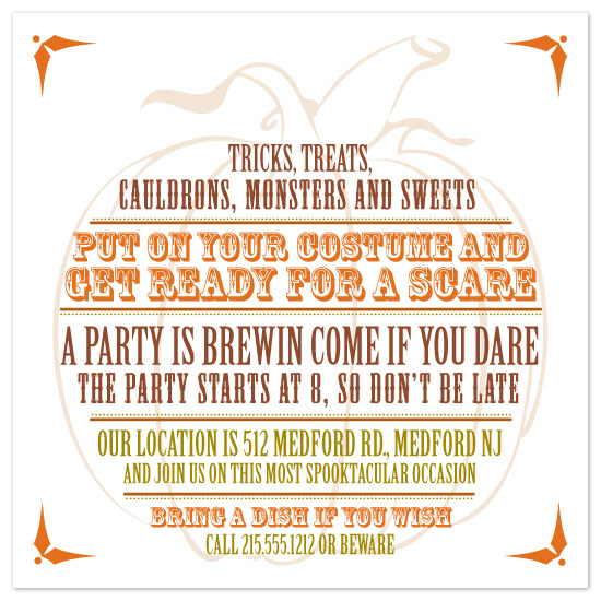 cards - Pumpkin Party Invitation by Bridget Collins