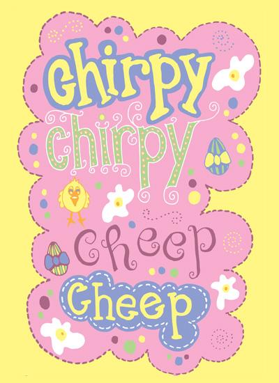 cards - chirpy chirpy cheep cheep by Sarah Palmer