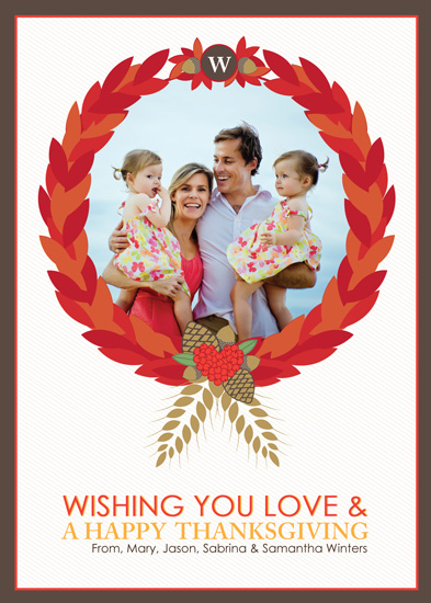 cards - Thanksgiving Family Wreath by Jessica Rose of Rosehaus