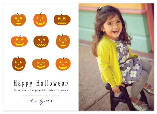 cards - Little Pumpkin Faces by Lehan Veenker