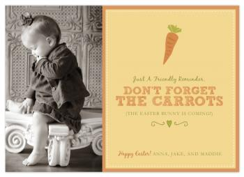 don't forget the carrots