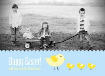 Three Little Birds Easter Photo Card