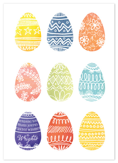 cards - Painted Eggs by 2birdstone