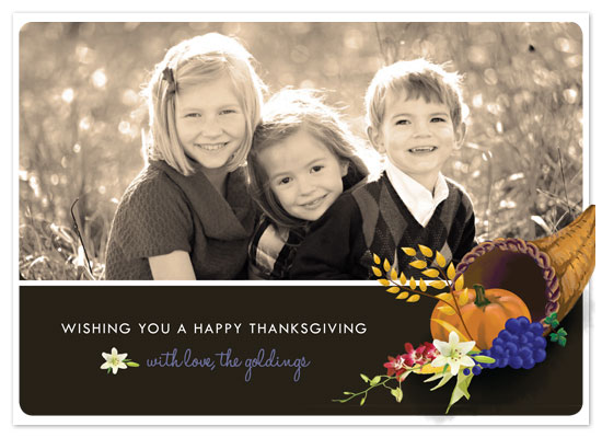 cards - Thanksgiving Cornucopia by Zoe Proser