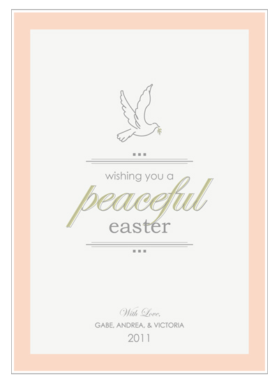cards - Peaceful Easter by Noma and Dolly
