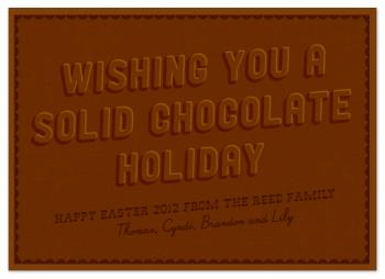 solid chocolate holiday