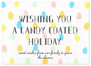 candy coated holiday