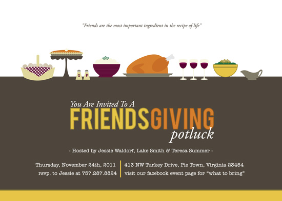 cards - Friendsgiving Potluck by Jessica Rose of Rosehaus