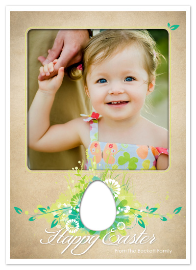 cards - Blooming Easter Portrait by GeekInk Design