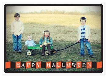 Folded Banner Halloween Card