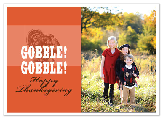 cards - Gobble! Gobble! Thanksgiving Card by Kristine Morich