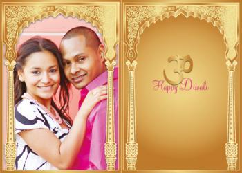 Gold Happy Diwali