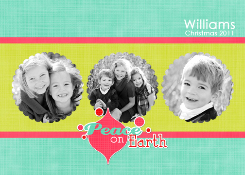 holiday photo cards - Peace On Earth Holiday Card by Edub Graphic Design