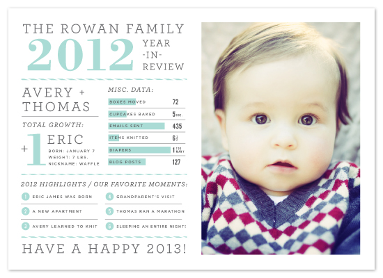 holiday photo cards - Year in Review by cambria