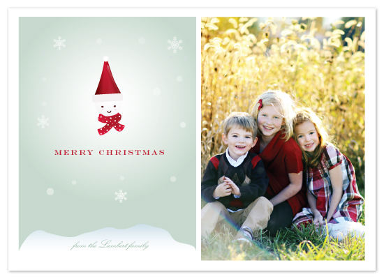 holiday photo cards - Snowman Santa by Sheila Sunaryo