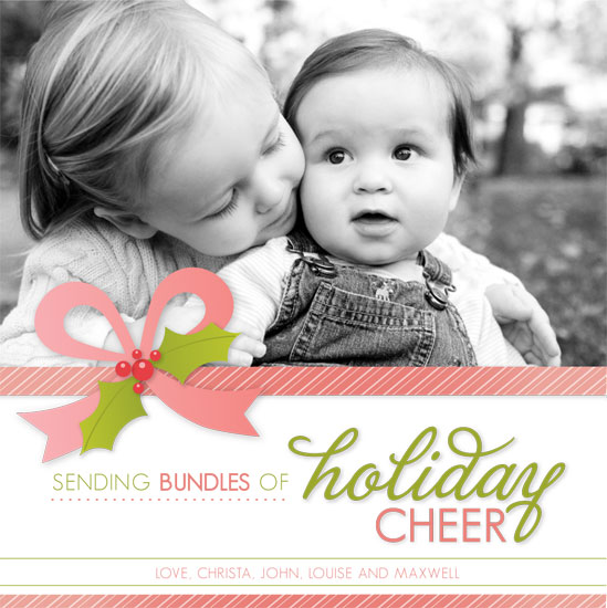 holiday photo cards - Bundles of Cheer by Lindsey Chin-Jones