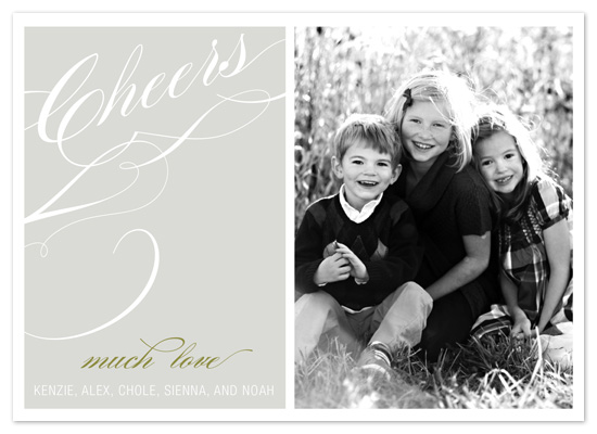holiday photo cards - cheers calligraphy by Jordan Beynon