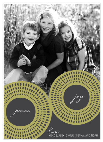 holiday photo cards - Peace, Joy, Love by Jordan Beynon