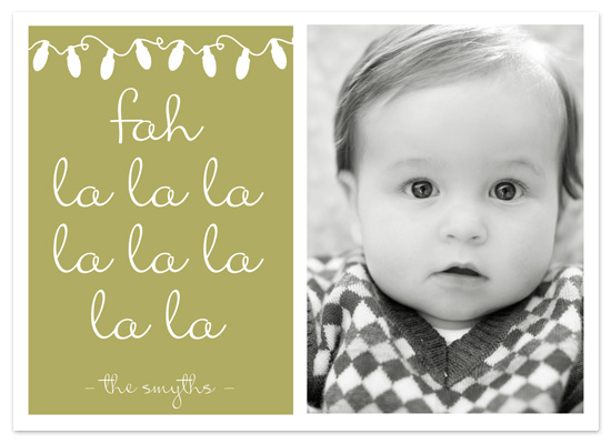 holiday photo cards - Fah La La La La by Jordan Beynon