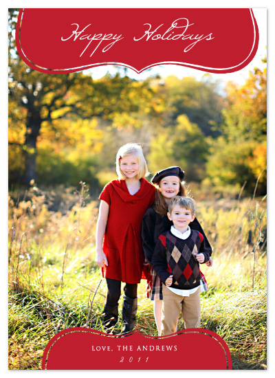 holiday photo cards - Modern Whimsy Holiday Card by Stella Bella Invites