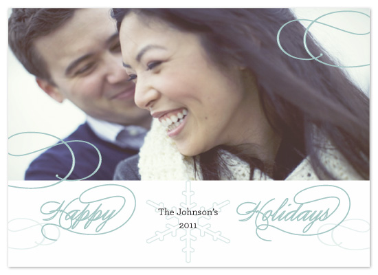 holiday photo cards - Holiday Script by a visual concept